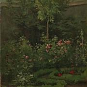 camille pissarro un jardin de roses 1862 1000px