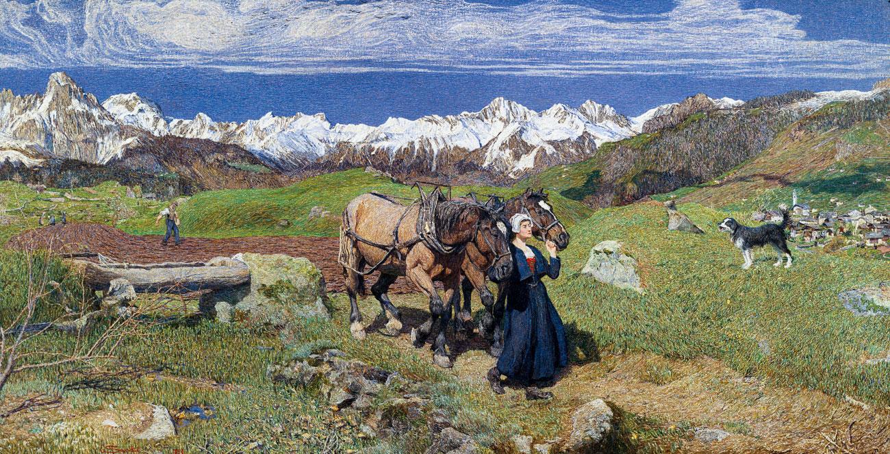 La raffigurazione della primavera sulle alpi, 1897