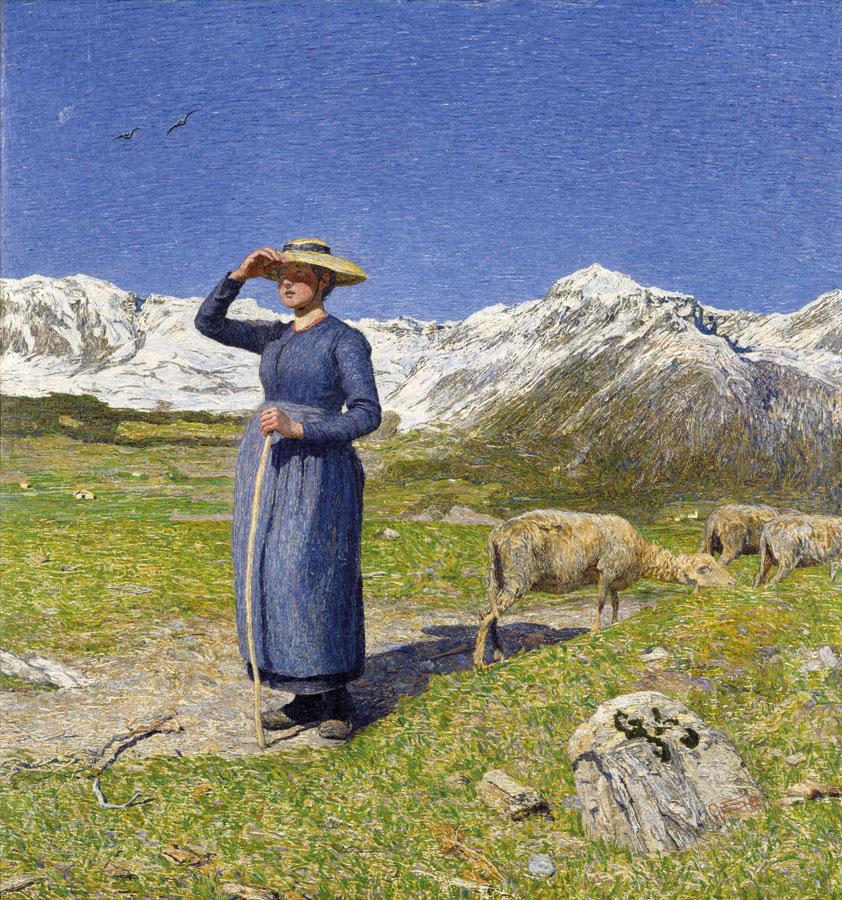 Mezzogiorno sulle alpi meriggio o giornata di vento, 1891