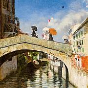 il naviglio a ponte san marco 1880