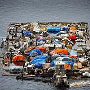 yann arthus bertrand barca fiume congo pressi mossaka cuvette region repubblica congo