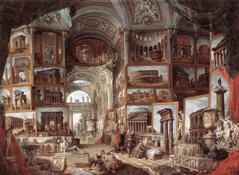 Panini - Galleria di quadri con viste dell'antica Roma
