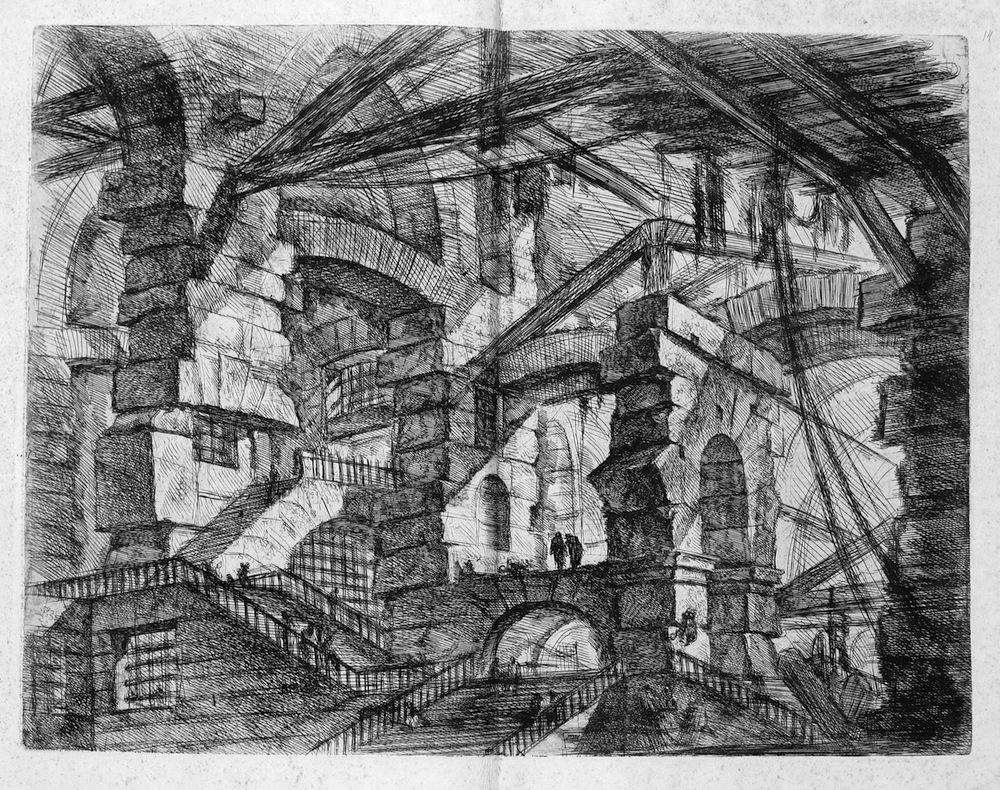 Piranesi – 1745 Capricci di Carceri – Senso di Allucinazione