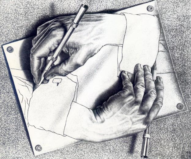 Mani che disegnano, 1948