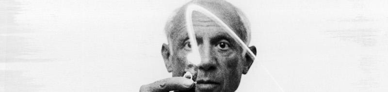 Disegni di luce di Picasso nelle fotografie di Gjon Mili