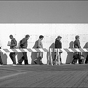 all lined up atlantic city board walk c bruce martin