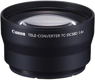 Aggiuntivo Tele TC-DC58D per la Canon G12