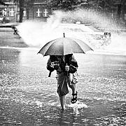 Un ombrello è utile per riparare la macchina