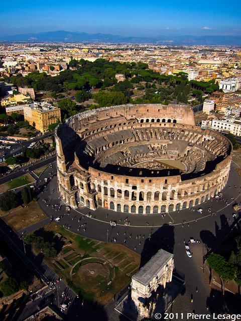 Colosseo visto dall'aquilone