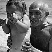 robert capa pablo picasso figlio claude costa azzurra 1951