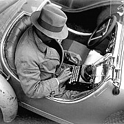 zoltan glass journalist in an bmw 1935