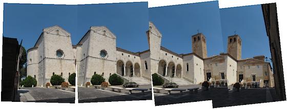 Quattro immagini di partenza per realizzare una fotografia combinata