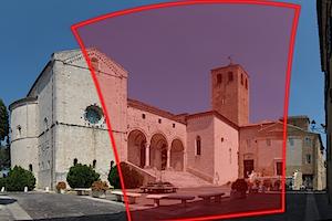 Fotografia combinata del Duomo di Osimo