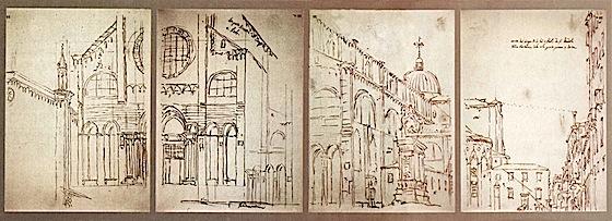 Canaletto - Veduta della Basilica dei Santi Giovanni e Paolo, a Venezia