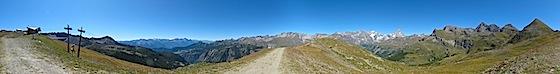 Panorama a 360° da Chamois in Valle d'Aosta