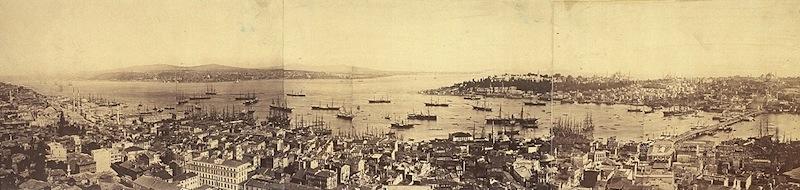 Vista panoramica di Costantinopoli, stampa all'albumina, 1876