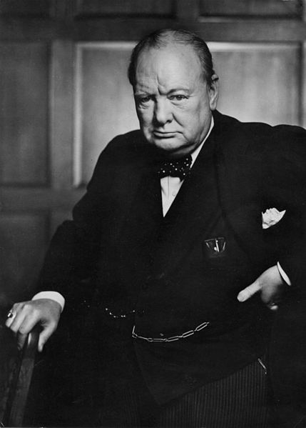 Winston Churchill fotografato nel 1941 da Yousuf Karsh