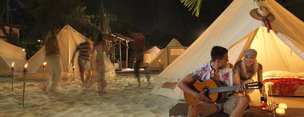 Dormire in tenda sulla spiaggia tutto l'anno