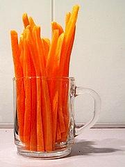 Bastoncini di carote