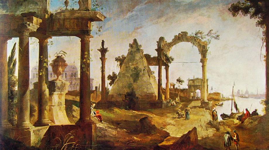 Canaletto - Capriccio con rovine classiche