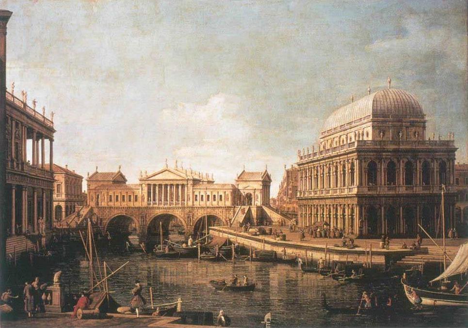 Canaletto - Capriccio Palladiano