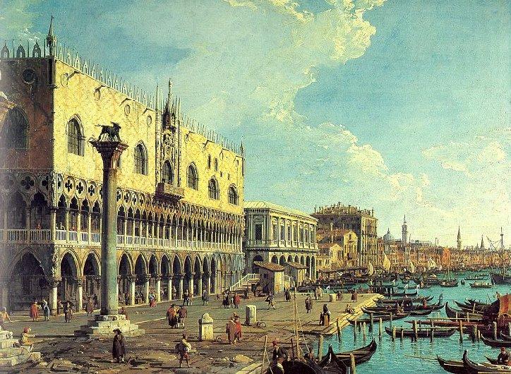 Canaletto - Venezia, Palazzo Ducale e Riva degli Schiavoni