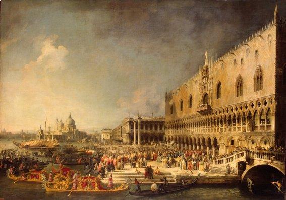 Canaletto - Venezia, veduta del Palazzo Ducale