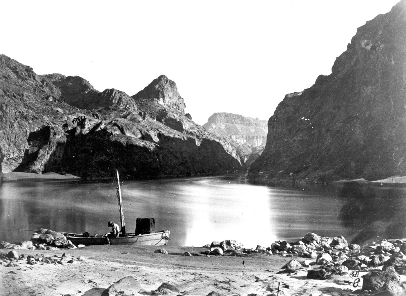 Posa lunga del fiume Colorado al Black Canyon, 1871 di Timothy H. O'Sullivan