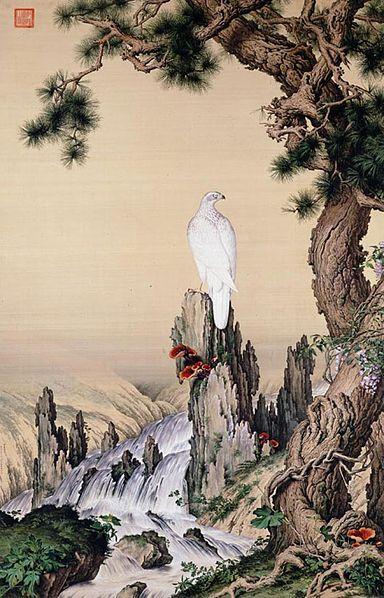 Lang Shi-Ning -- Il Pino, il falco e il fungo Ganoderma Lucidum