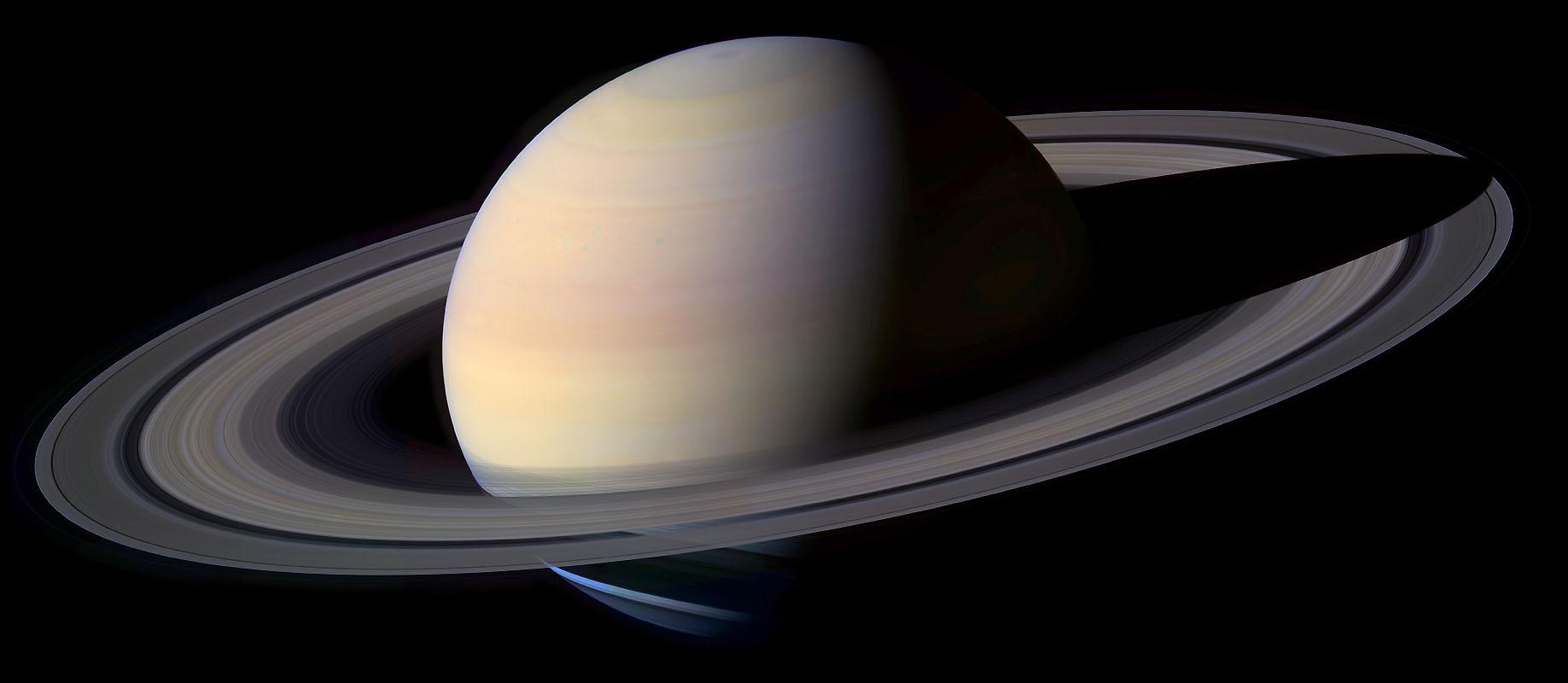 Fotografia di Saturno, pianeta su cui Giandomenico Cassini ha compiuto approfonditi e fruttuosi studi