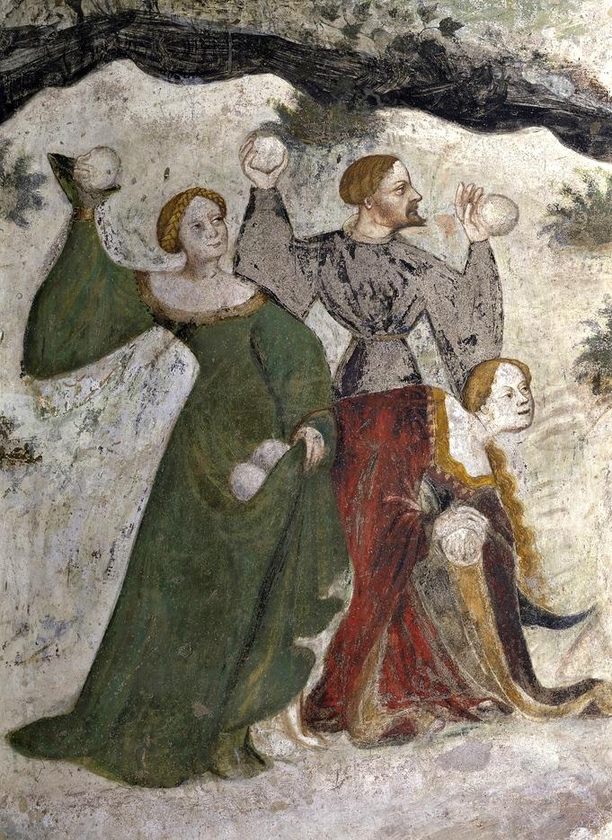 Nobili giocano a palle di neve - Ciclo dei Mesi